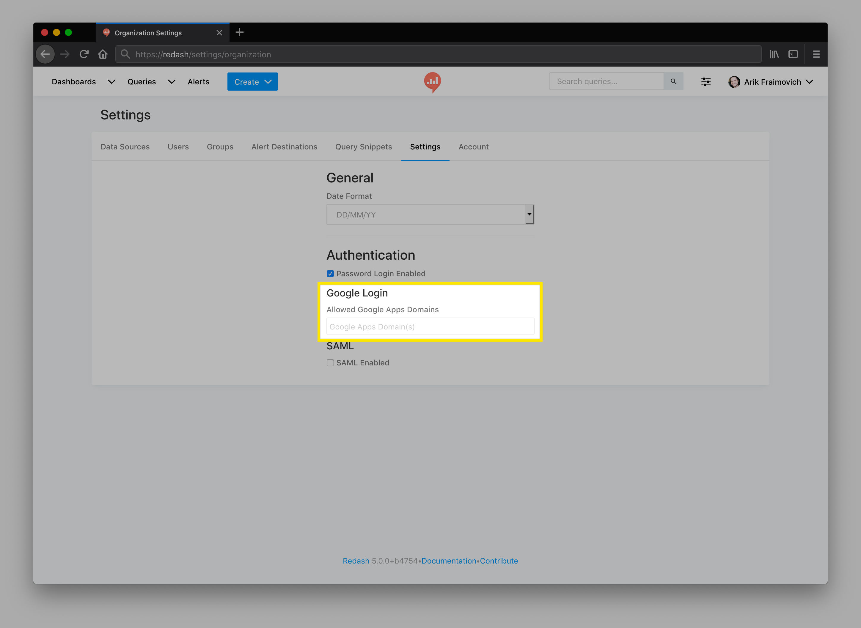 Setting up a Redash Instance